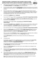 Work Clearance Form Instructions
